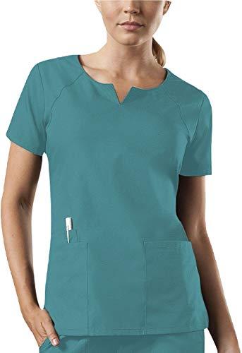 Smart Uniform 1706 Round Neck Top (3XL, Knickente [Teal])