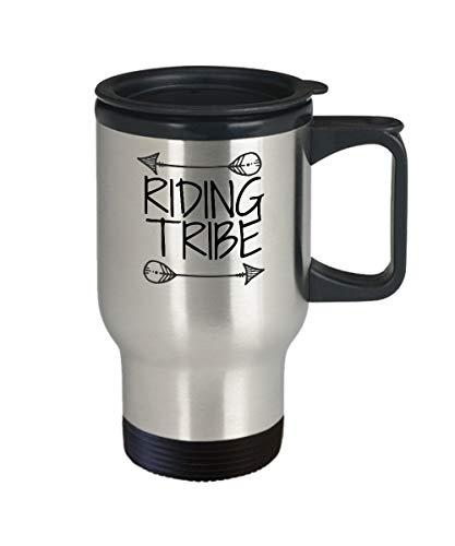 DKISEE Rijden Stam Mok Rijden Stam Koffie Mok Geïsoleerde RVS Mok Houd Dranken Koud & Hot Reizen Mok 14oz