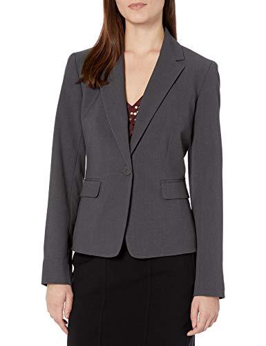 NINE WEST Women's Bi Stretch Jacket, Granite, 8
