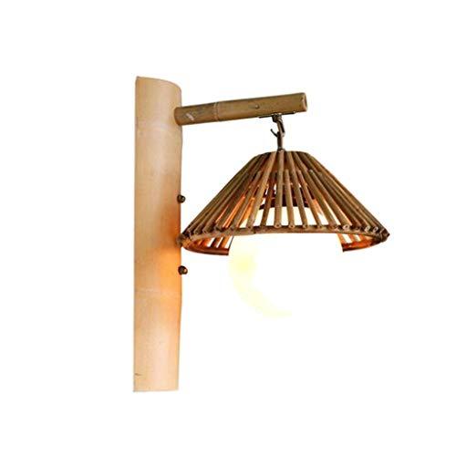 XH bamboe wandlamp, creatieve holle bamboe glazen bollamp, Japanse retro koffie winkel binnen gang decoratieve wandlamp ASZ
