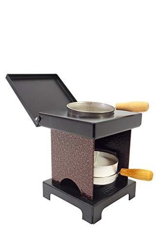 Huss Neudorfer Hockerkocher - Ofen für Räucherkerzen-, Weihrauch & Duftöl - Kupfer Antik