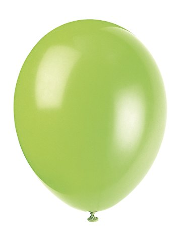 Unique Party-56865 Globos de Látex de 30 cm, Color Verde (Neon Lime), Pack de 50 (56865)