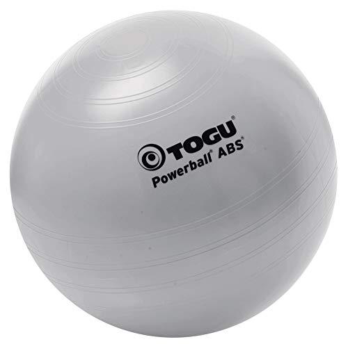 TOGU Powerball ABS - Pelota para Fitness (65 cm), Color Plateado