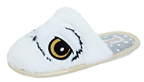 Harry Potter Hedwig The Owl - Zapatillas de casa para niñas, color Blanco, talla 30 EU