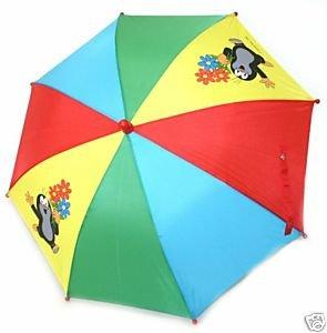 Bunter Regenschirm mit dem kleinen Maulwurf - Krtek