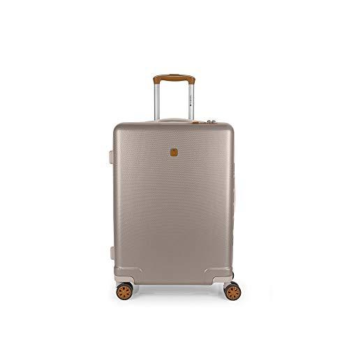 Gabol Mosaic | Rigid, Medium Travel Suitcases 46 x 65 x 25 cm with Capacity for 60 L Champagne Colour