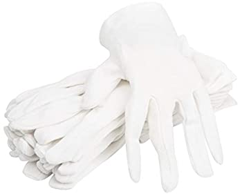 100% Organic Cotton Moisturizing Eczema Gloves for Dry Sensitive Skin - 6 Pairs