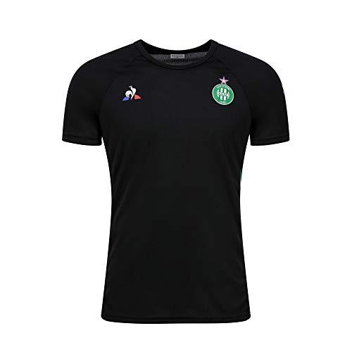 Le Coq Sportif Asse Training Comm Tee SS M Black T-Shirt Femme L Noir