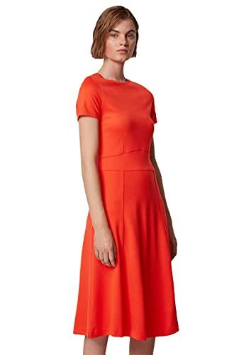 BOSS Damen Dusca Kleid, Orange (Bright Orange 820), X-Small (Herstellergröße: XS)