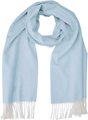 GANT Damen D2. TWO FACED TWILL SCARF Schal, Blau (Hamptons Blue 420), (Herstellergröße: One Size)