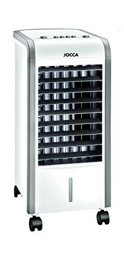 Jocca - Climatizador Portátil Frío(80w) y Calor(2000w) | Climatizador y Humidificador por Agua y Hielo | 3 Velocidades