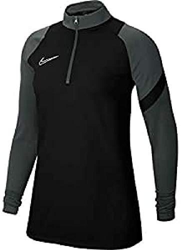 Nike Dri-Fit Academy PRO, Maglia A Manica Lunga con Zip Donna, Nero/Antracite/Nero/Bianco, XS