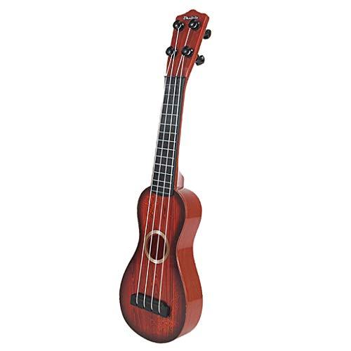 HomeDecTime Jouet Musical pour Enfants Ukulélé Enfants Mini Guitare Set 4 Cordes 38cm - A