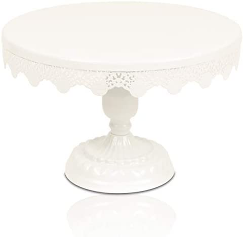 Scott s Bakery Antique Round Metal Cake Stand Cupcake Display Holder with Beautiful Design Perfect product image