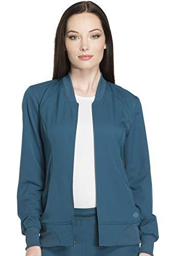 Dickies Dynamix Zip Front Warm-up Jacket, DK330, XXS, Caribbean Blue