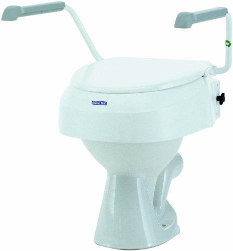 Invacare Aquatec 900 Toilettensitzerhöhung mit Armlehnen, Weiß