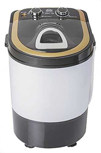 DMR 3 kg Inverter Portable Semi Automatic Top-Loading Mini Washing Machine with Dryer Basket (DMR 30-1208 (W2Yr), Black)