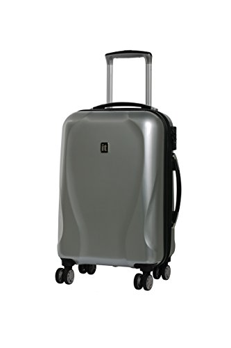 IT Luggage Corona Hardside 8 Wheel 3 Piece Set - Juego de maletas Adulto unisex Plateado plata Small - 54.7 x 36 x 23 cm - 3 kg