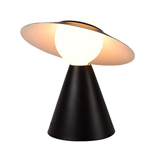 Lámpara de Cabecera Estudio mesa de la lámpara romántica creativa del dormitorio del hogar esférico Mesita de luz de la lámpara de la sala de lectura del vector de la lámpara, novela del sombrero de p