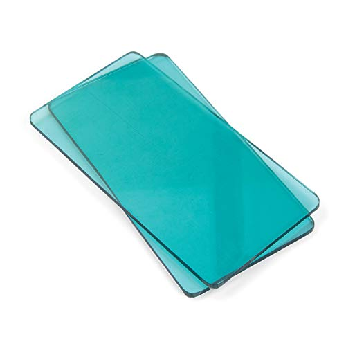 Sizzix 661769 Big Shot Plus Accessori Dischi da taglio per la macchina Sidekick, Plastica PC, Blu (Aqua), 1 Paio