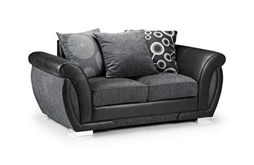 Honeypot - Sofa - Shannon - 3 Seater - 2 Seater - Armchair - Swivel chair - Corner - Black - Fabric (2 Seater)