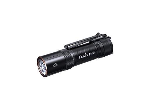 Fenix Linterna E12-V2.0 160 Lúmenes. 3 Niveles de Brillo.Tamaño: 77,6 x 19 x 17,6 mm. Peso: 27.3 g (sin batería), Adultos Unisex, Multicolor (Multicolor), Talla Única