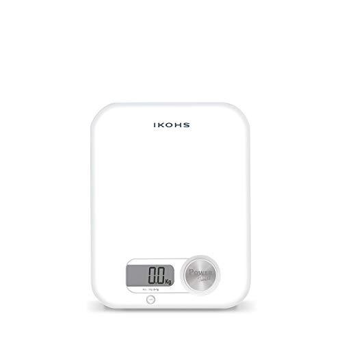 IKOHS Pondus Balance de cuisine écologique à génération d'énergie Fonctionnement sans pile ni batterie (Blanc)
