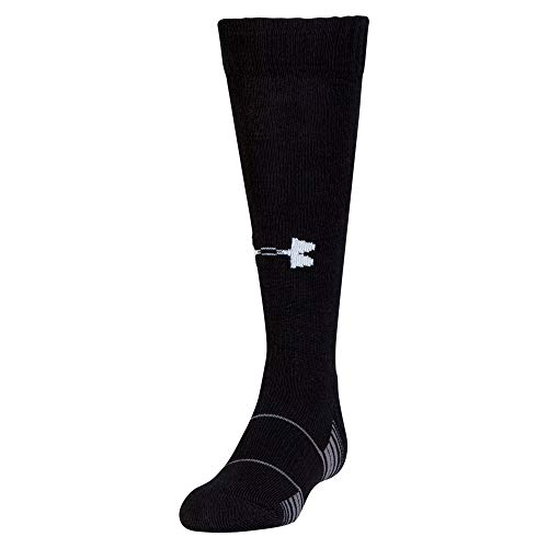 Under Armour Youth Team Over-The-Calf Socks, 1-Pair , Black/White , Shoe Size: Youth 13.5K-4Y