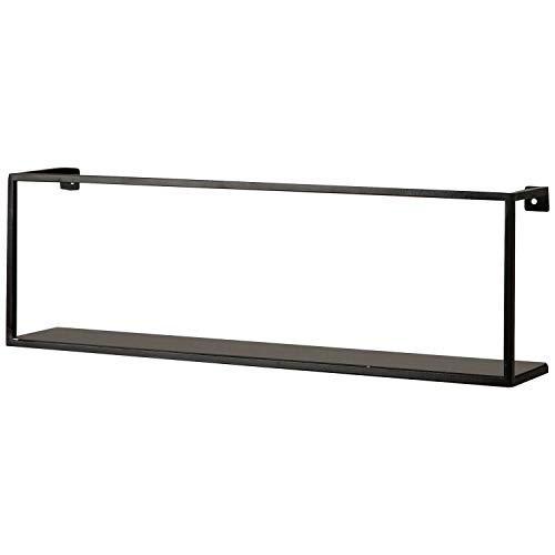 mokebo® Wandboard 'Die Landungsbrücke' aus Metall, Hängeregal, Wandregal & Bücherregal | 50x16x8 (B/H/T in cm)