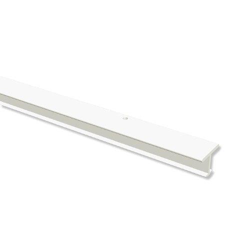 INTERDECO Gardinenschienen T-Schienen vorgebohrt Weiß 1-läufige Vorhangschienen aus Kunststoff, Fineline, 160 cm