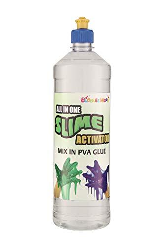 ALLES IN EINEM! Slime Magic Liquid Slime Activator Lösung - nur zu PVA Kleber (1000 ml) hinzufügen Kinder Schleim Schlamm