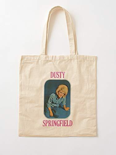 Générique 1960S Singer Pop Retro Roll Records Music Springfield and Dusty   Bolsas de lona con asas, de algodón duradero