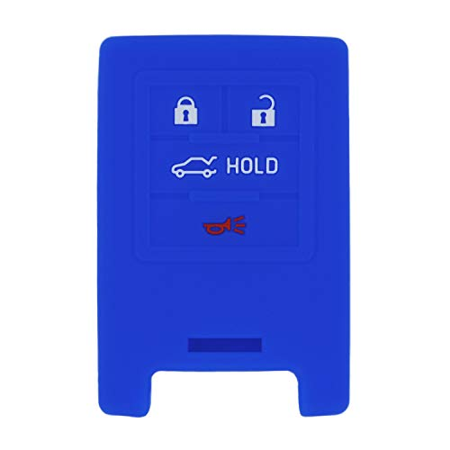 QualityKeylessPlus Protective Silicone Rubber Keyless Entry Remote Fob Case Skin Cover for select 4 Button Cadillac Remotes FCC: M3N5WY7777A / NBG009768T / OUC6000066 / OUC6000223