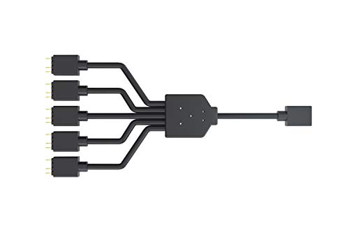 Cooler Master ARGB 1-to-5 Cavo Splitter, 3-Pin LED Connector, 58 cm
