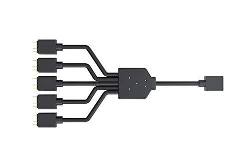 Cooler Master ARGB 1-zu-5-Splitterkabel, 3-poliger LED-Anschluss, 58 cm