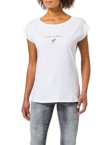 edc by ESPRIT Damen 051CC1K326 T-Shirt, 100/WHITE, M