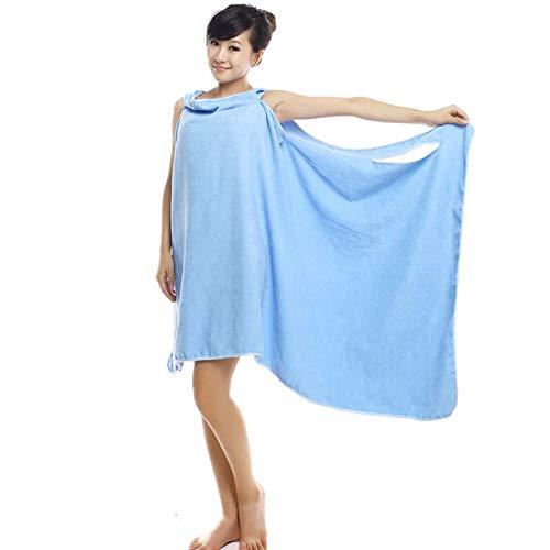 Bademantel Badetuch groß Damen Lang Kleid Strand Wickelkleid Bademantel Handtuch Reise Spa Schwimmen Große 150 * 80cm Bademantel