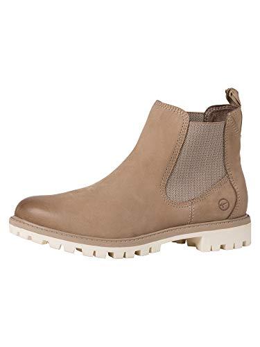 Tamaris Damen Stiefeletten, Frauen Chelsea Boots,lose Einlage, Women's Woman Freizeit leger Stiefel halbstiefel Bootie flach,Taupe,36 EU / 3.5 UK