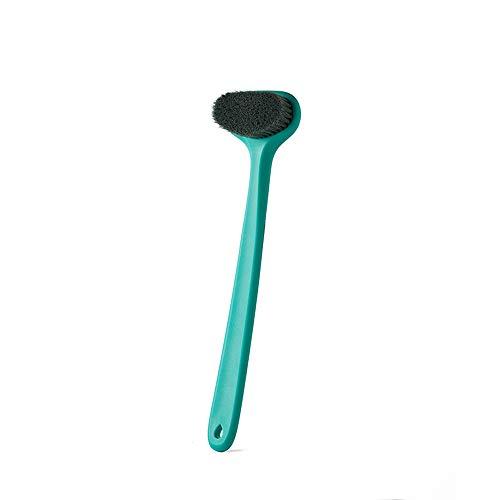 Badebürste Kardätsche Kardätsche Stiel Softbürste Badebürste Erwachsener Badebürste Baderückenbürste Dusche Kugel und Pinsel-Set (Green)