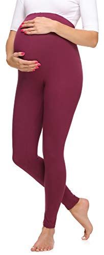 Merry Style Leggings Premaman Lunghi Donna MS10-297 (Rosso Vinaccia, XL)