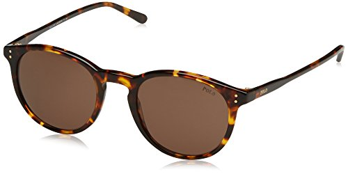 Ralph Lauren Polo 0PH41103473 Occhiali da Sole, Marrone (Shiny Antique Havana/Brown), 50 Uomo