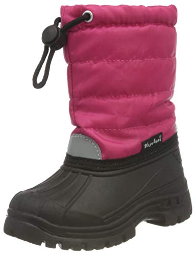 Playshoes Winterstiefel Schneeschuhe für Kinder mit Warmfutter 193005, Mädchen Warm gefütterte Schneestiefel, Pink (18 pink), 32/33 EU