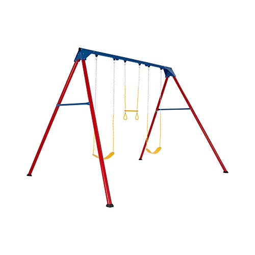 Lifetime 90200 Heavy Duty A-Frame Metal Swing Set, Primary Colors