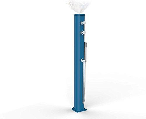 Arkema Design JG150 Douche solaire transportable avec mitigeur et douchette, Bleu