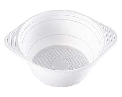 1-PACK Suppenterrine Suppenteller 750ml, PP, 10 gr, Mikrowellentauglich, weiß, 100 Stück