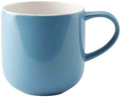 ASA 19100381 Tasse à anses Turquoise COPPA D. 9,2 cm, hauteur 9,5 cm, 0,4 l. 19100381 ! Set de 2 pièces comprenant 2 pailles en acier inoxydable EKM Living