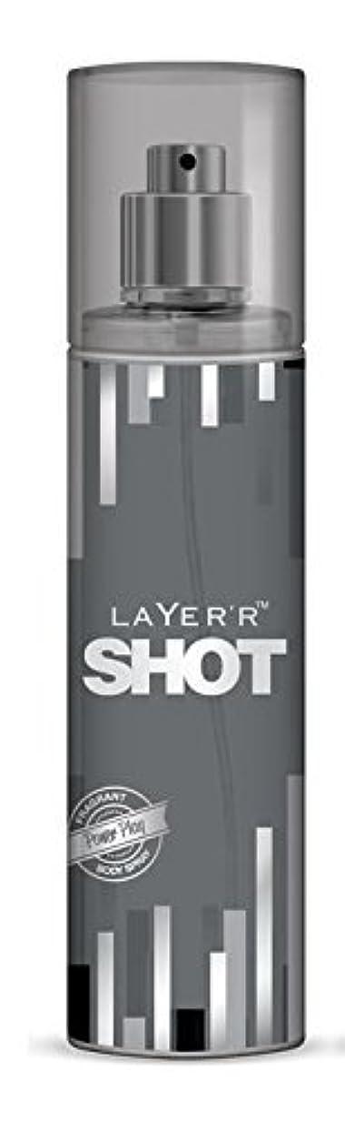 ギャザーうなる顕現Layer'r Shot Deodorant, Power Play, 135ml