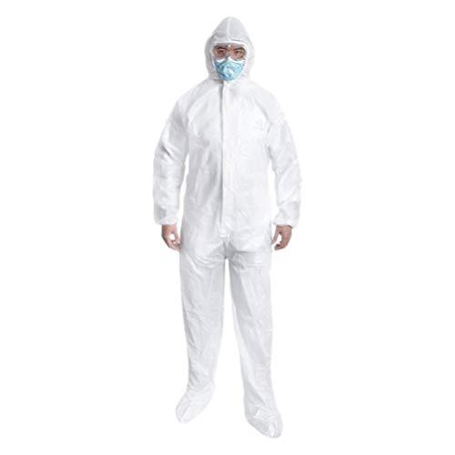 EXCEART 2 Pcs Jetables de Protection Globale Non-Poreux Vêtements Uniformes Anti-Poussière Vêtements de Protection Hôpital Fournitures Taille S