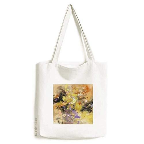 Sacola de lona com pintura a óleo outono outono arte natureza natureza morta bolsa de compras bolsa casual bolsa de compras
