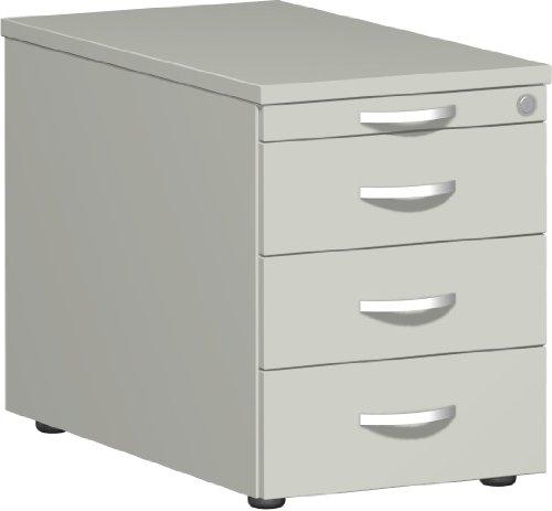 Gera Möbel, B x T x H 430 x 800 x 566 mm, 1 Utensilienschub, 3 Metallschubladen Rollcontainer, Holz, Sonstige, 60 x 82 x 58 cm